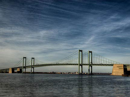 Delaware Memorial Bridge, the longest twin span suspension bridge in the world