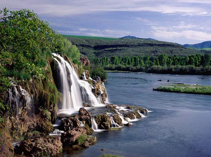 Creek Falls and Snake River, Idaho