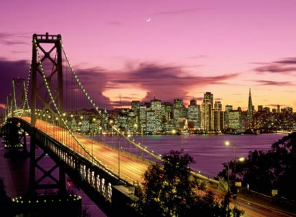 Golden Gate Bridge in San Francisco seen from Sausalito, CA