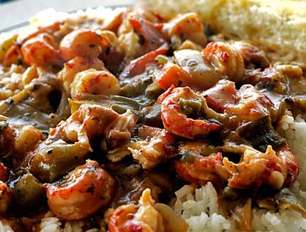 Louisiana Cajun and Creole cuisine. Here is a crawfish and shrimp dish.