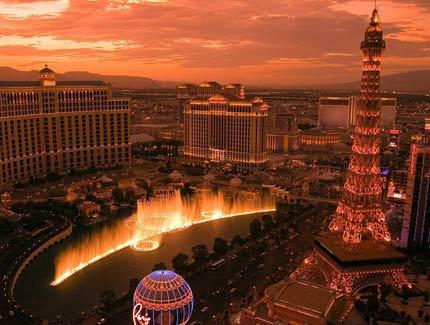 Las Vegas hotels Paris and Belagio