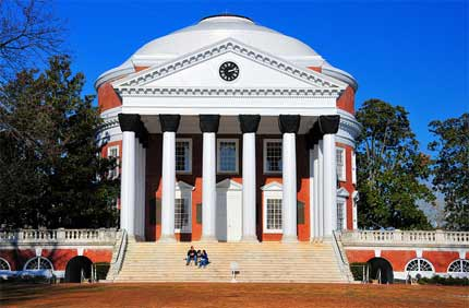 University of Virginia was founded by president Thomas Jefferson — the rotunda